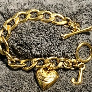 Juicy Couture Jewelry - Juicy Couture Goldtone Heart & J Charm Bracelet